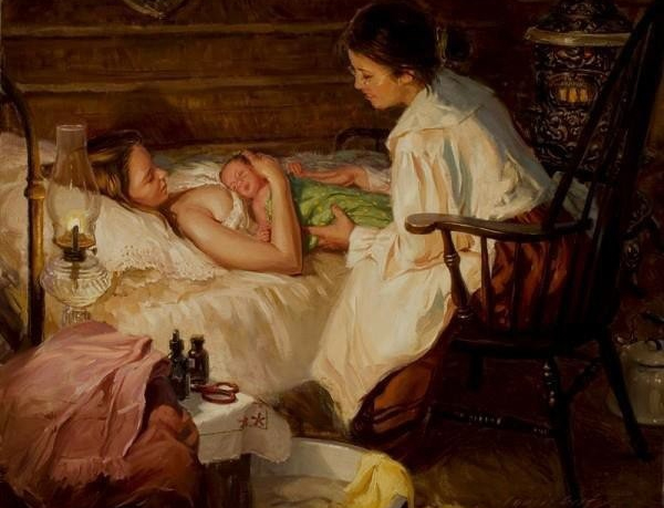 Картина родов сто лет назад