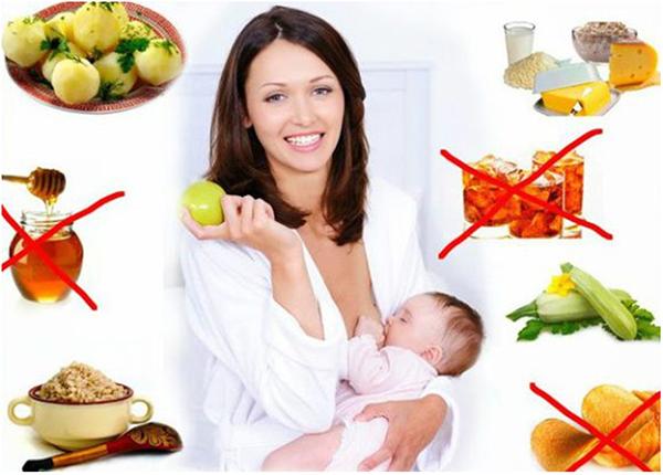 Молодая мама и запрещенные продукты