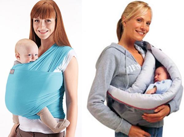 Мамы несут малыша в слинге