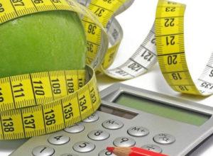 Сантиметр вокруг яблока и калькулятор