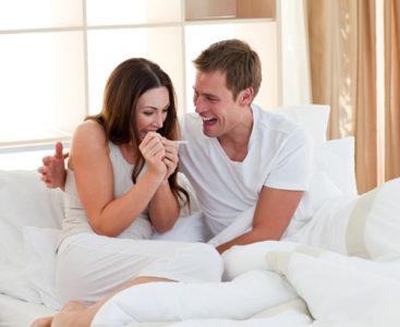 Муж, жена и тест на беременность