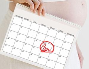 Календарь с датой родов
