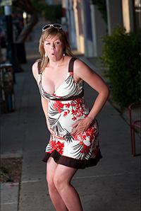 Беременная на улице