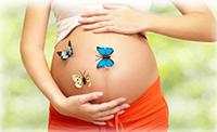 Бабочки на животе у беременной