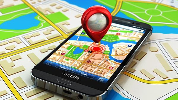 GPS-навигатор на карте