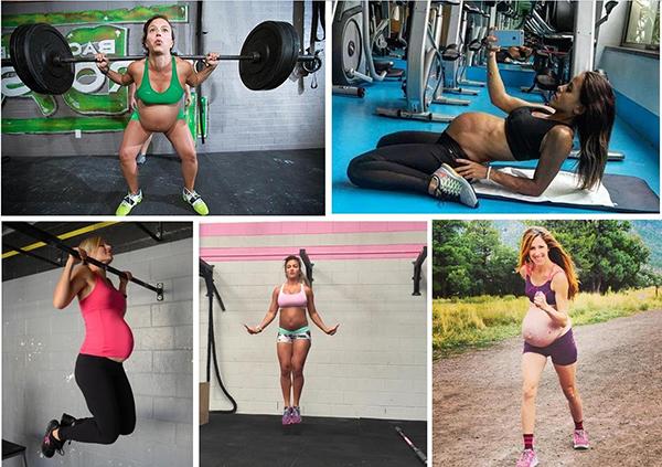 Беременные занимаются спортом