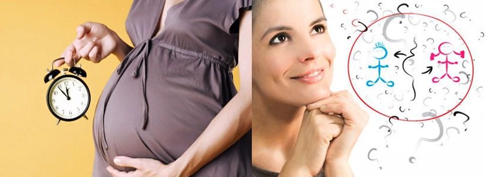 Беременная с будильником