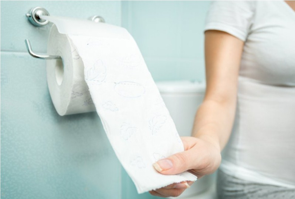 Беременная в туалете