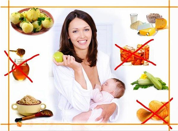 Кормящая женщина и запрещенные продукты