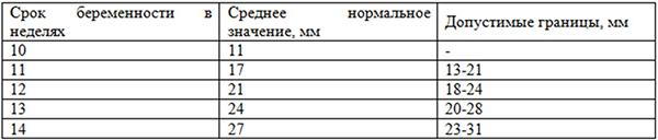 Таблица показателей БПР